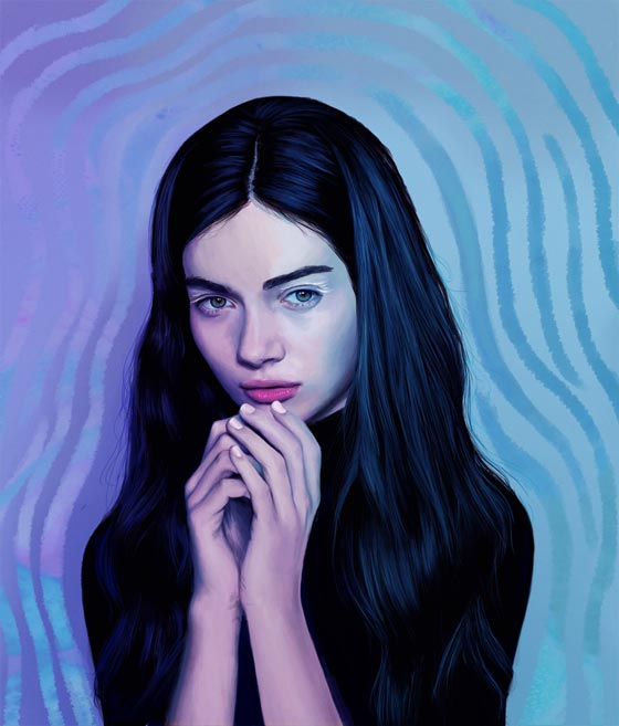 Digital paintings by Kemi Mai