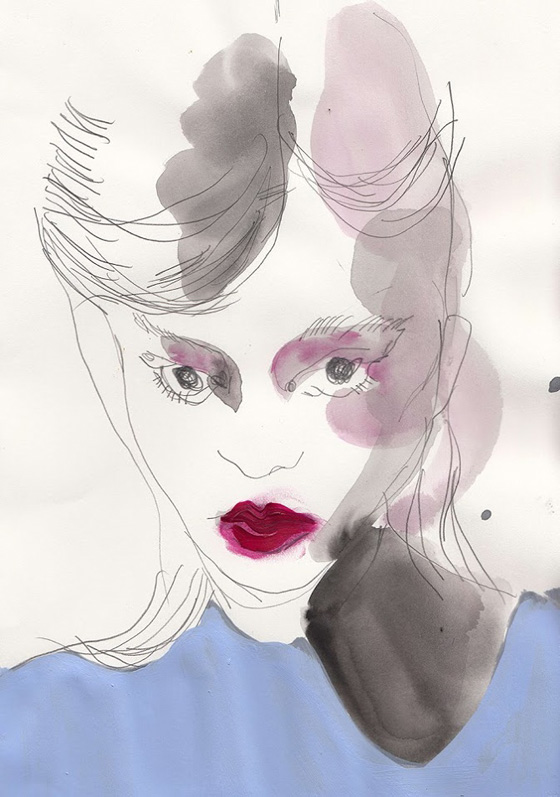 Playful fashion illustrations by Marie El-Ahmar
