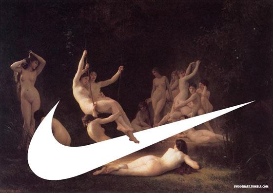 Swoosh art by art director Davide Bedoni