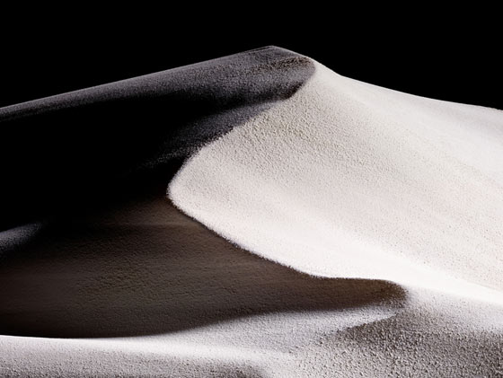 Dunes & canyons with cosmetics powder by Romain Lenancker