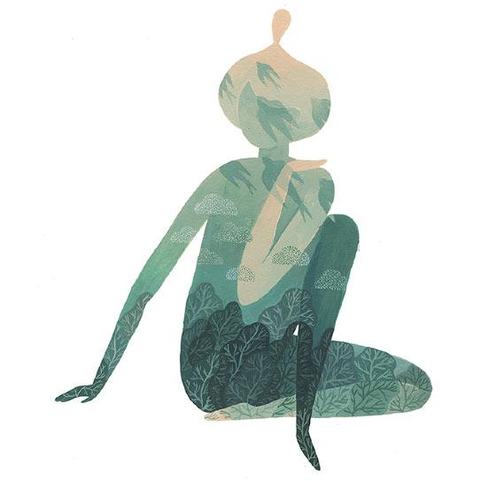 Dream-like illustrations by Marina Muun