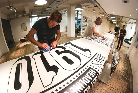 Typography, packaging and murals by Alex Fowkes