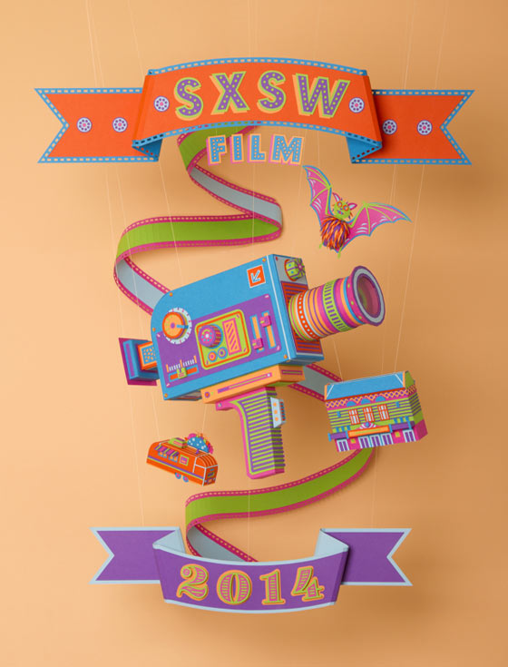 Poster du SXSW Film Festival 2014 par Zim and Zou