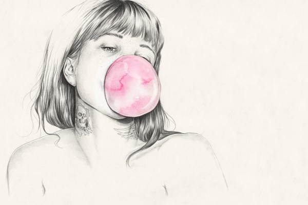 Playful and romantic illustrations by Esra Roise