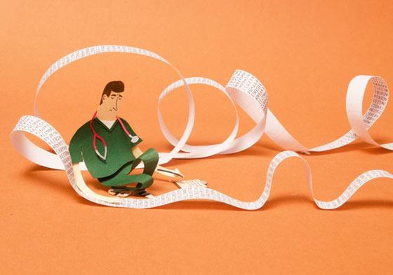 Editorial paper illustration by Malin Koort
