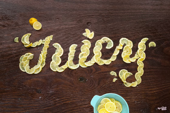 Succulent food lettering by Marmalade Bleue