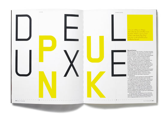 Magazine et typographie par Matt Willey