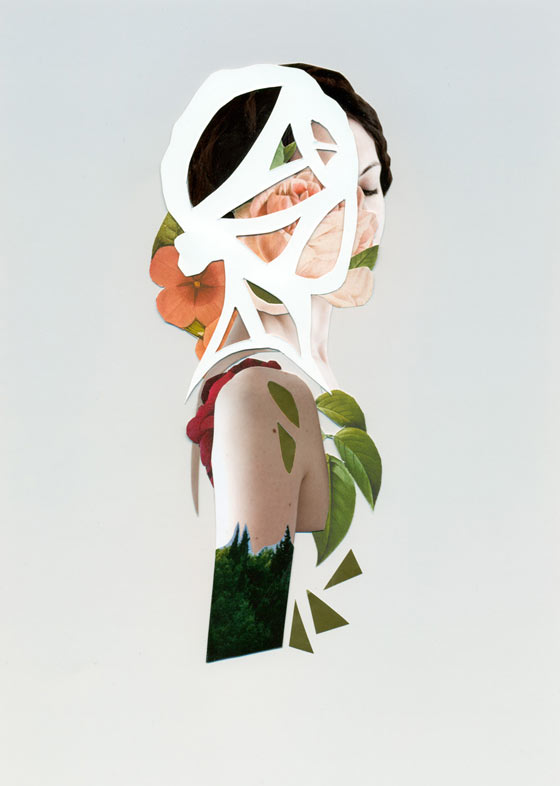Experimental portrait collages by Rocio Montoya