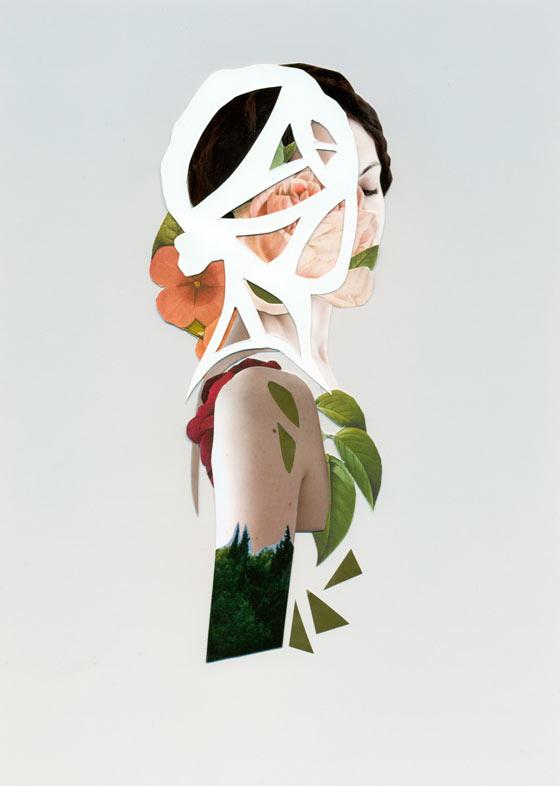 Experimental portrait collages by Rocio Montoya