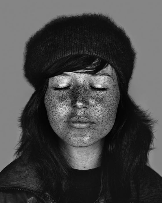 Ultra-violet portraits by Cara Phillips