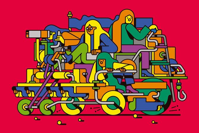 Illustrations vectorielles psychédéliques par Edward Carvalho-Monaghan
