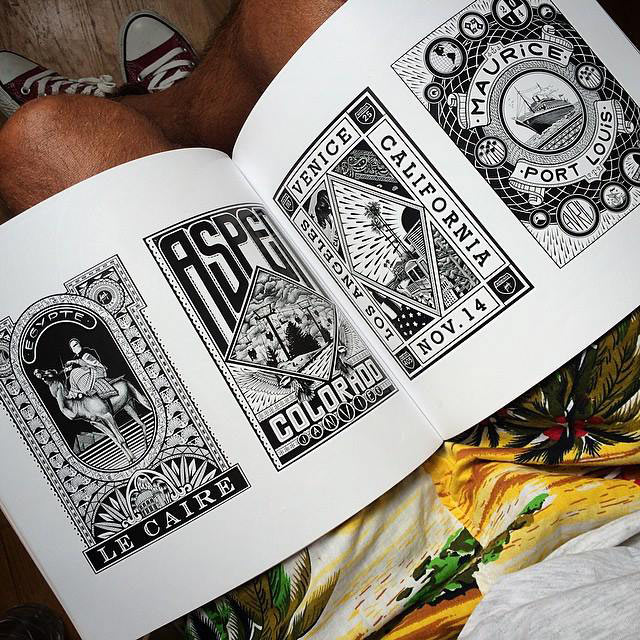 Old style tattoo, illustration and graffiti by Franck Pellegrino