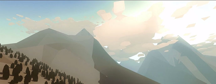 """The Approximate Present"" a low poly animation by Filippo Baraccani"