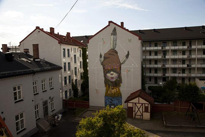 Street-art murals and digital paintings by Etam Cru