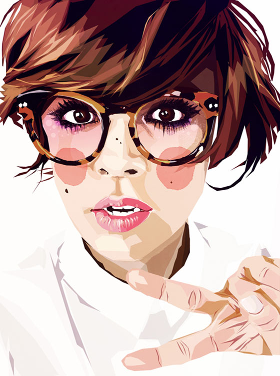 Illustrations de mode et portraits par Mamzelle Poppy