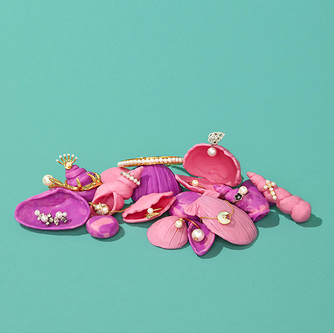 Sweet playdough set design for jewelry by Mathilde Nivet