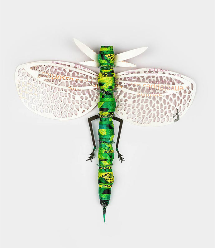 Insects crafted from recycled papers by Coming Soon