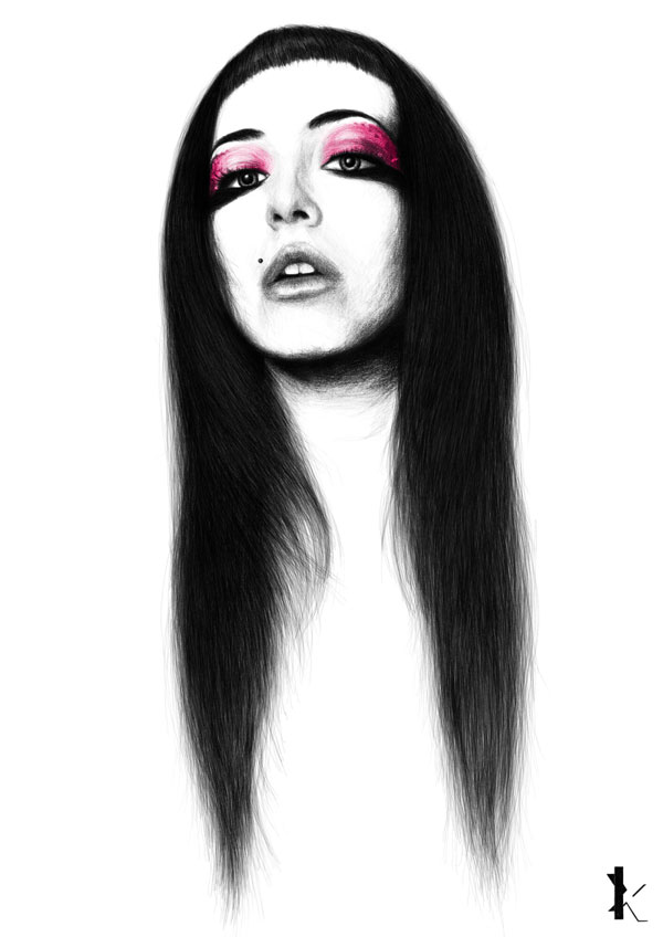 Fashion illustration and portraits of the youth by Kirill Hohlov
