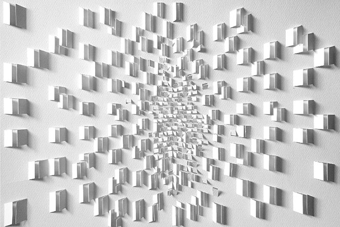Paper art and experiment by Sachin Tekade