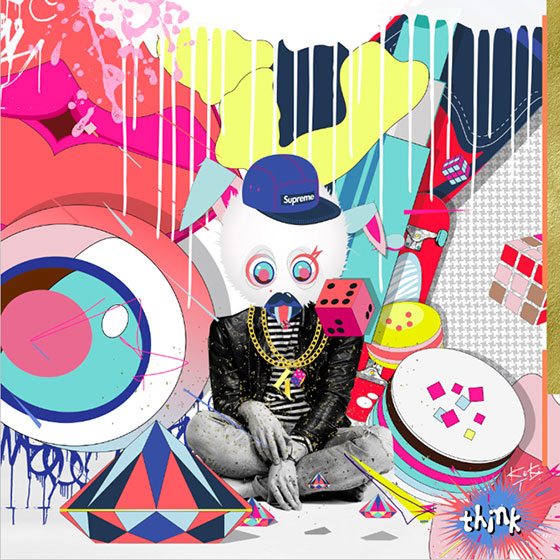 Colorful pop collages and vector drawings by Kiki Trésor