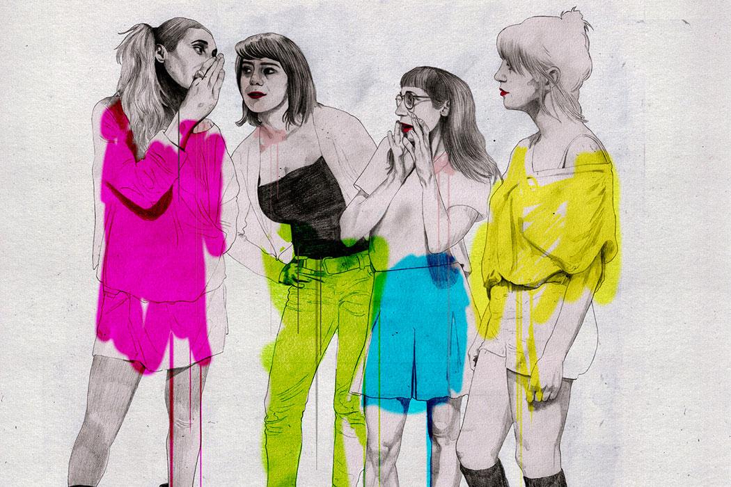 Drawn portraits and botanical sets by Marta Zafra