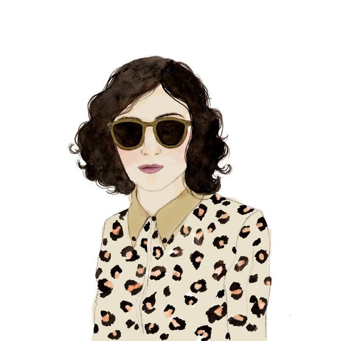 Sweet trendy drawings by Chilean artist Daniela Henriquez