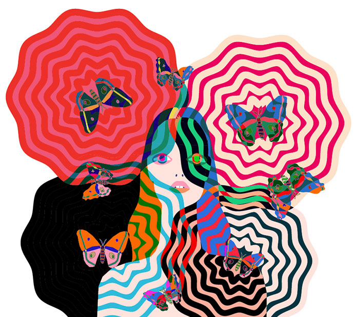 Colorful fashion and futurism by John Lisle