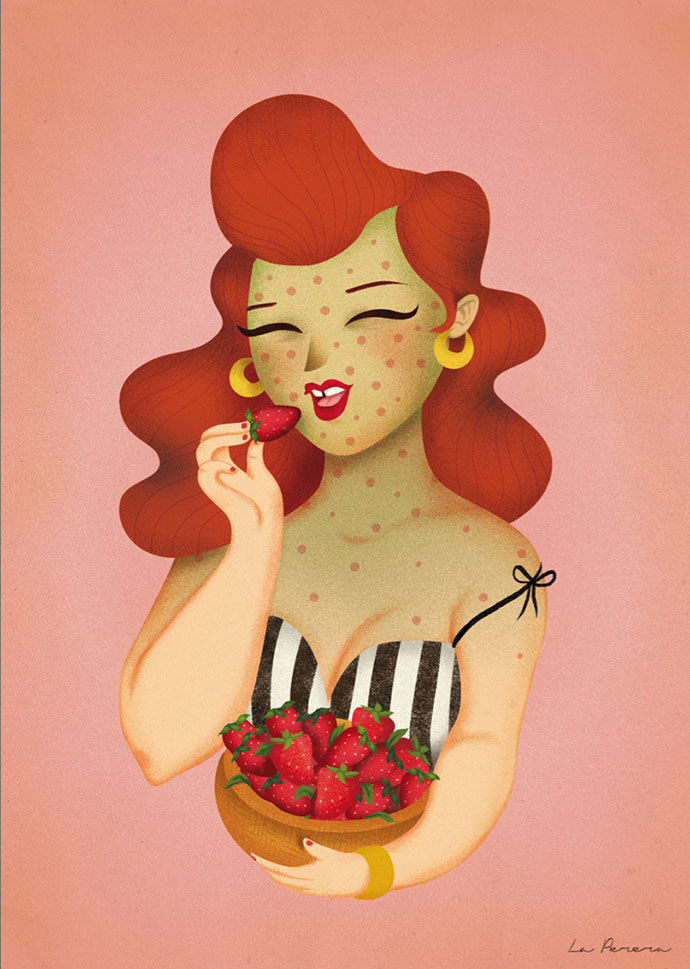 Sweet portrait illustration by La Perera