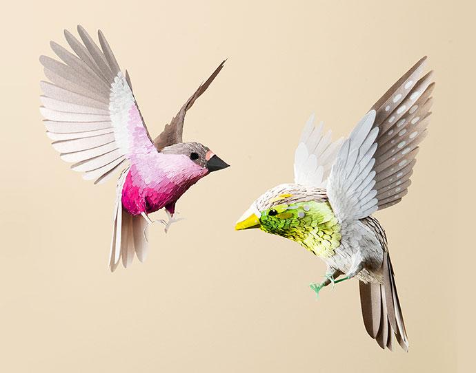 Hyper-realistic paper art by Ollanski