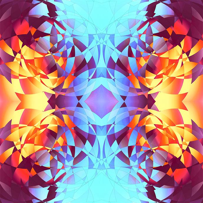 Modern geometric compositions by Kiandjan