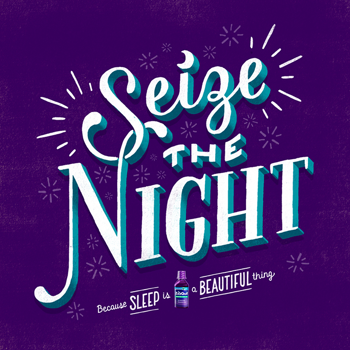 Colorful lettering by designer Lauren Hom
