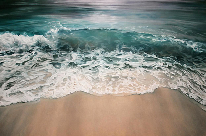 Sea shores of the Maldives painted by Zaria Forman