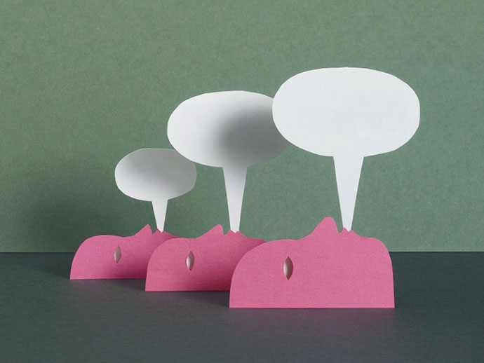 Graphic design, paper craft and illustration by Damien Poulain