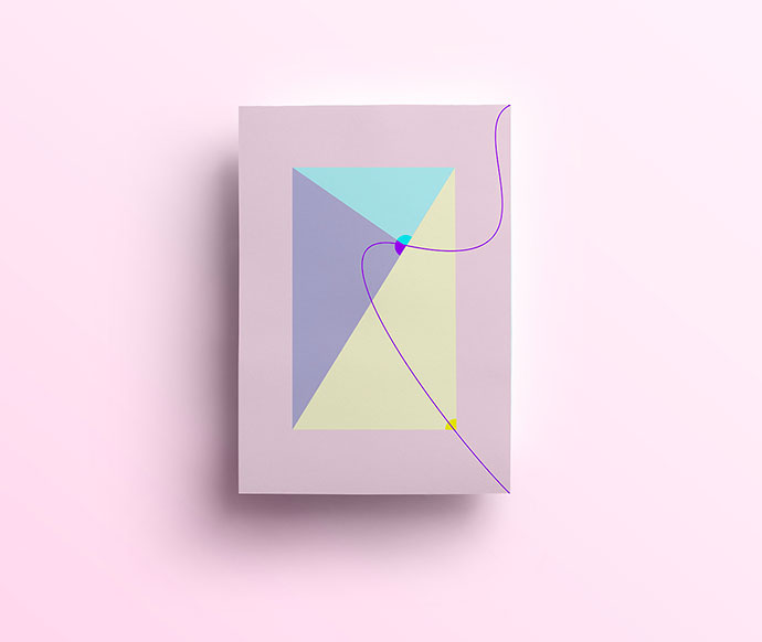 Geometric compositions by graphic designer Isabella Conticello