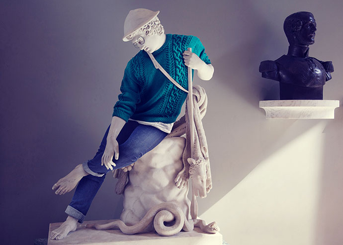 Hipsters in stone by photographer Leo Caillard