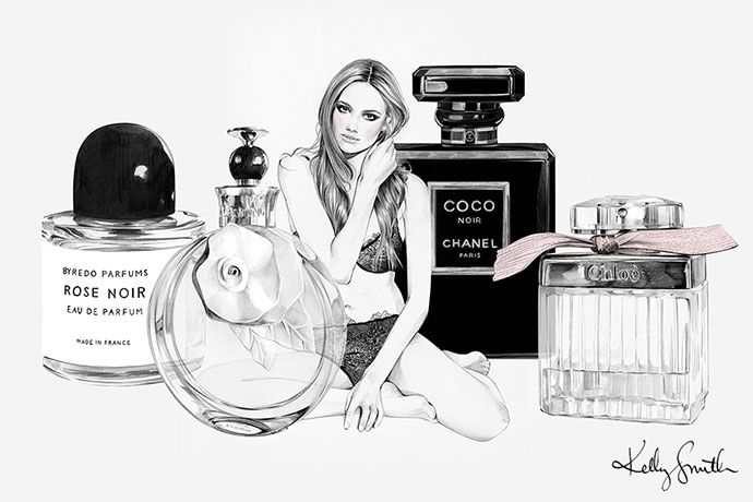 Illustrations de mode et beauté par Kelly Smith
