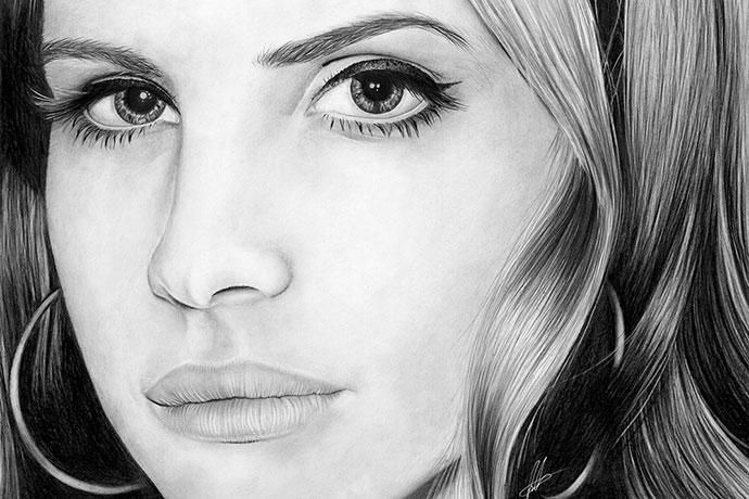 Les portraits dessinés très détaillés de Laura Eddy