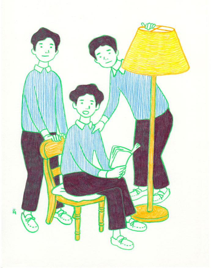 Sweet (and rude) straight illustrations by Nimura Daisuke