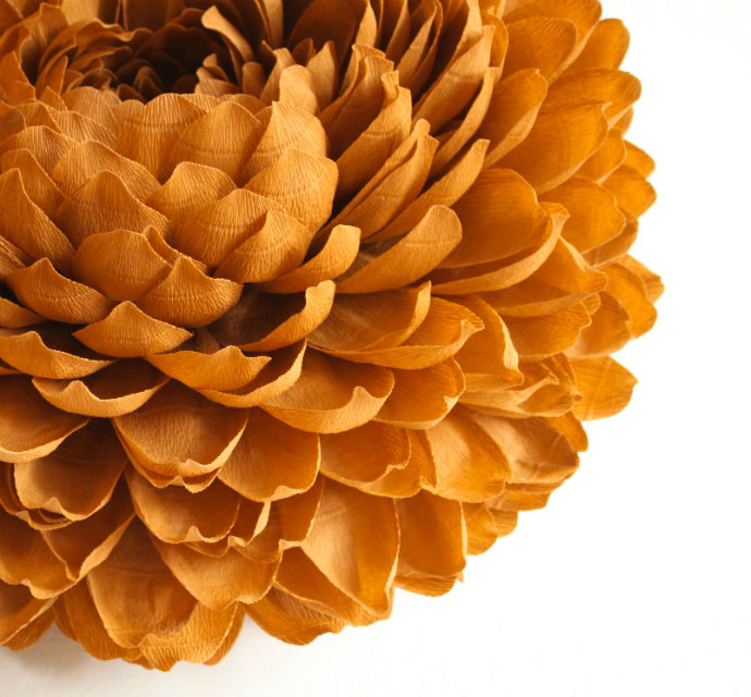 Magnificent paper flower crafted by Tiffanie Turner
