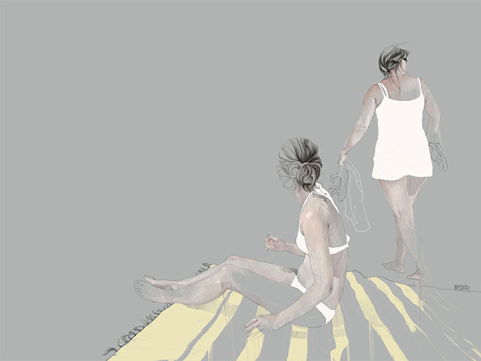 Dynamic sketchy illustrations by Agata Wierzbicka