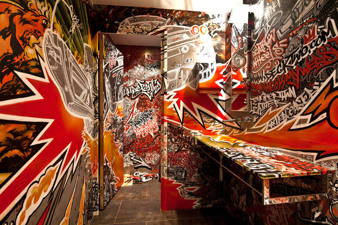 Wall drawings and sketches by DeckTwo