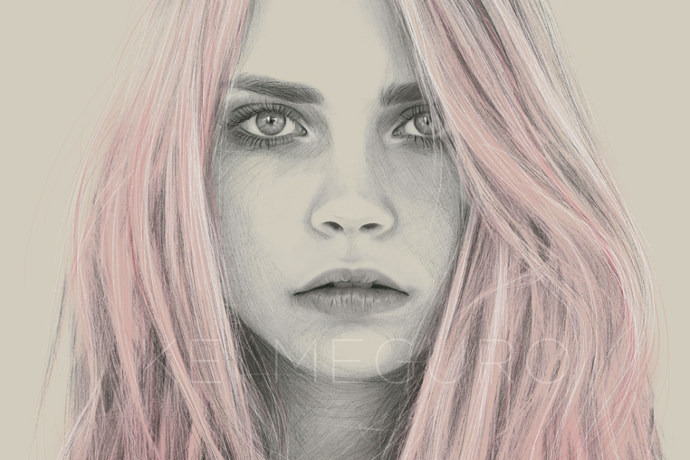 Portraits de mode et illustrations par Kei Meguro