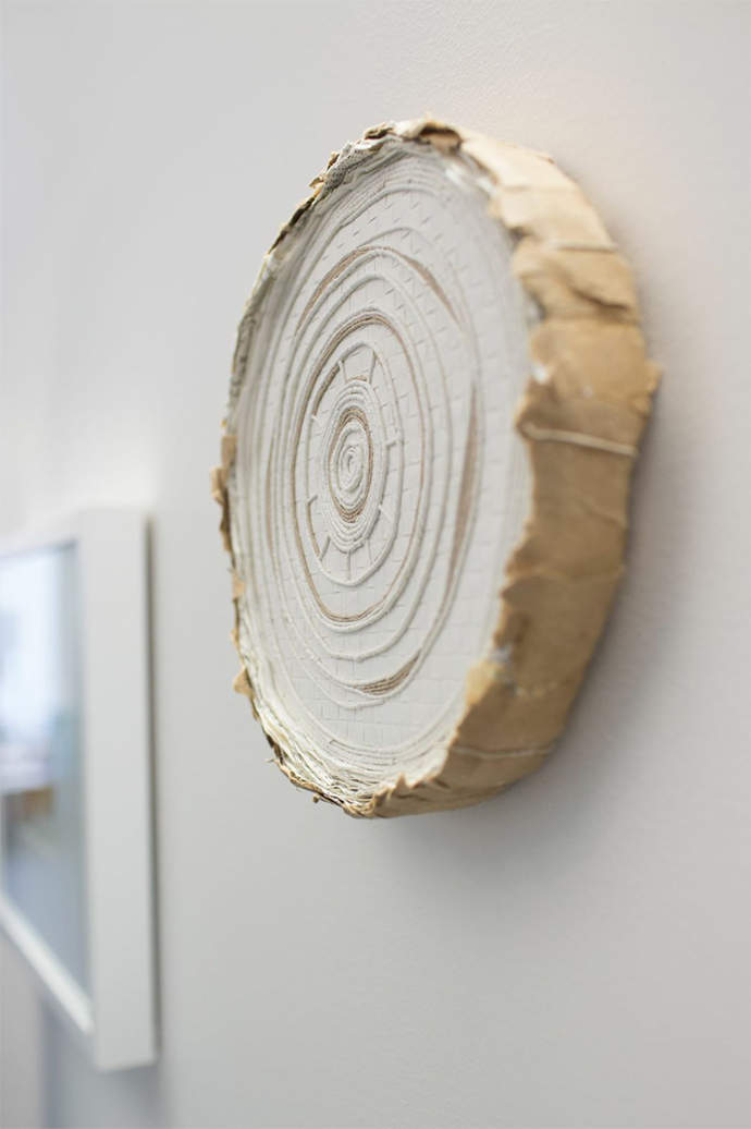 Trees, Time and Garment, Paper Art by Julie VonDerVellen