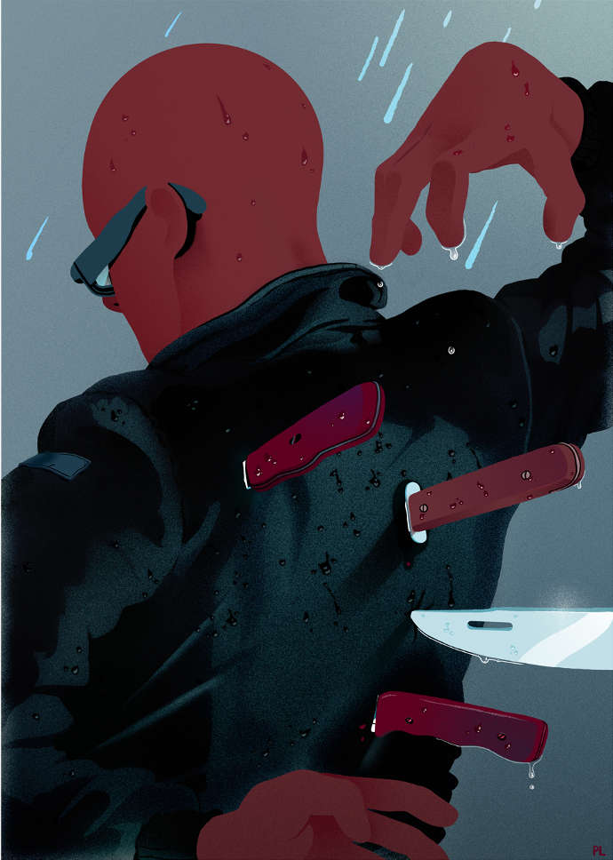 Expressive cool dark illustrations by Paul Lacolley
