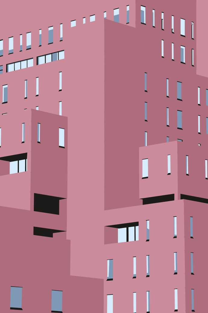 Minimalist vector architecture by Joe Rampley