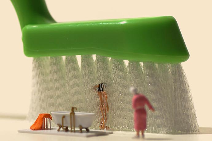 Miniature Calendar, la photo de figurines par Tanaka Tatsuya