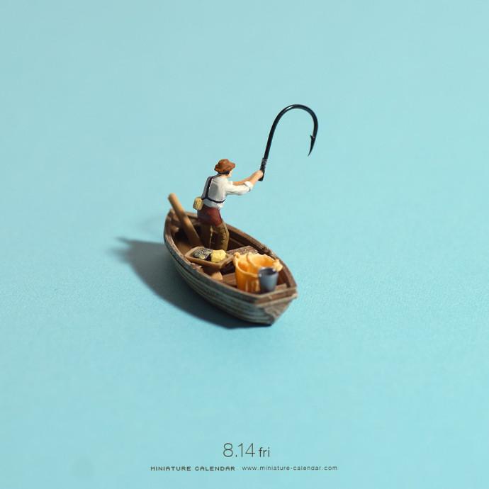 Miniature Calendar, figurines shot by Tanaka Tatsuya