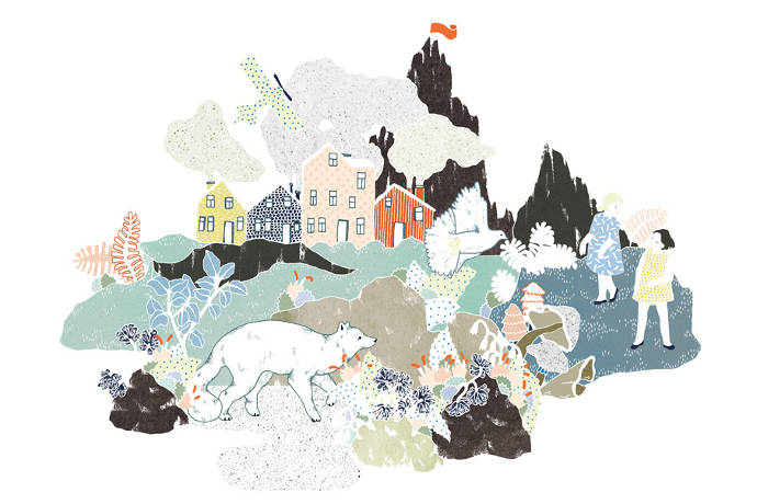 Paper art and illustration by Julia Spiers