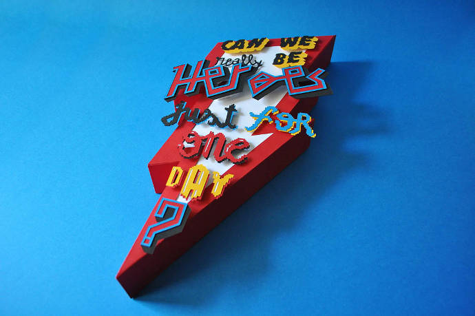 Colorful paper art, hand crafted by Miguel Dias