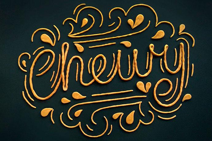 Création de typographie en volume par Becca Clason